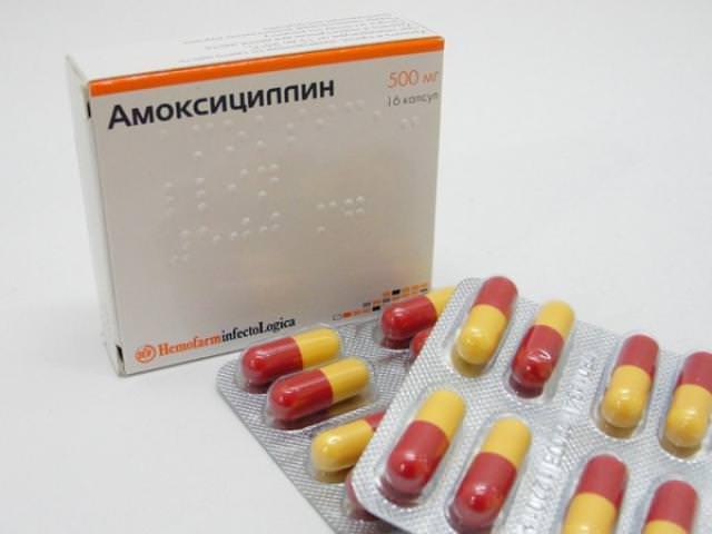 Амоксициллин применяется как антибиотик при заболевании флюсом