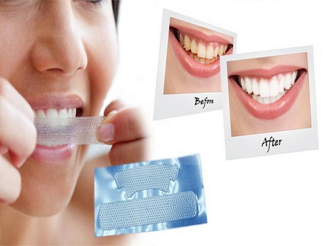 отбеливания зубов полосками